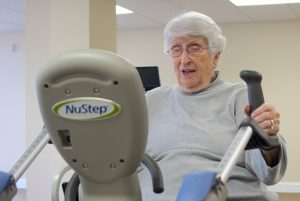 Shirley A.  85-year-old resident and NuStep user at Carlyle Place